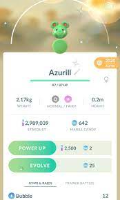 URGENT* Pokemon Go shiny azurill, Video Gaming, Gaming Accessories, In-Game  Products on Carousell