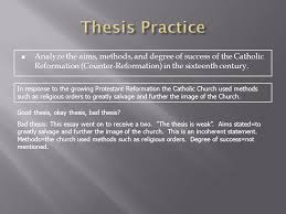 the ap european history response question ppt video online thesis practice analyze the aims methods and degree of success of the catholic reformation