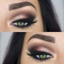 eye perfect evening makeup look for green eyes
