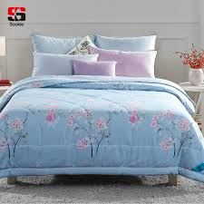Sookie Summer Quilt Floral Print Thin Comforter Cover Light Weight ... & Sookie Summer Quilt Floral Print Thin Comforter Cover Light Weight Filled  Air Conditioning Quilting Sofa Bed Adamdwight.com