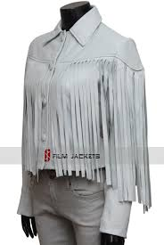 saloane peterson white fringe leather jacket sloane peterson jacket ferris bueller s