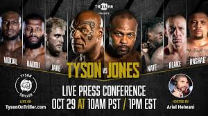 Tyson, the former undisputed heavyweight boxing champion, will fight roy jones. Tyson Vs Jones Press Conference Announced Date Start Time And How To Watch Fightmag
