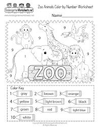 Phonics play, phonics alphabet worksheets, handwriting and tracing worksheets, anagram worksheets, vowel sound printables teach learners phonics: Zoo Color By Number Worksheet For Kindergarten Free Printable Digital Pdf