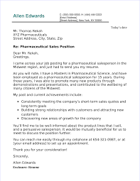 Pharma Cover Letters Pharmaceutical Sales Cover Letter Sample