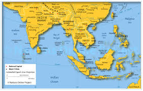 map of south east asia nations online project Map Of Asia Atlas map of south east asia map of asia to label