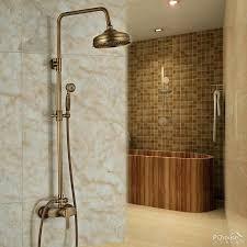 wall mount outdoor shower faucet antique brass 8 rainfall shower outdoor shower head