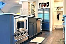 microwave in island. Microwave In Island Drawer Within Kitchen With
