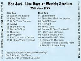 Lay your hands on me 7. Bon Jovi Live From London Setlist