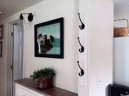 diy wall mounted vertical coat rack