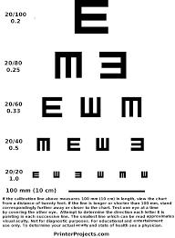Snellen Chart Printable Printable Eye Charts