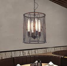 Nordic <b>Retro</b> Bar Iron Chandelier Cafe Restaurant <b>Creative</b> ...