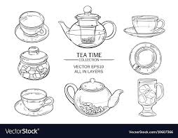 glass tea set glass tea set sketch vector image groupon malaysia glass tea set