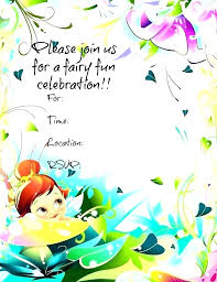 Tinkerbell Template Personalized Tinkerbell Birthday Invitations Plus If You Want A More