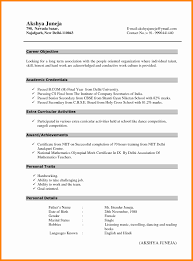 Resume Format For A Fresher Unique Alluring Latest Msc It Freshers