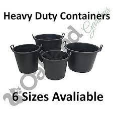 large plastic plant pots outdoor garden
