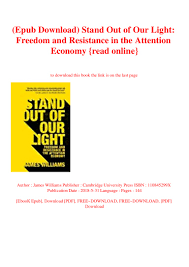 James Williams Stand Out Of Our Light Epub Download Stand Out Of Our Light Freedom And Resistance