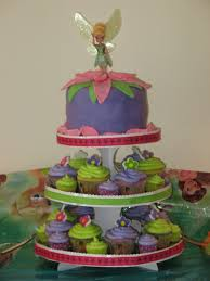 Tinkerbell Birthday Cake And Cupcake Tower Cakecentralcom