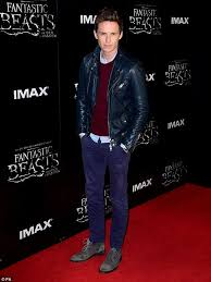 fan favourite ed redmayne looked a far cry from his magical alter ego at the