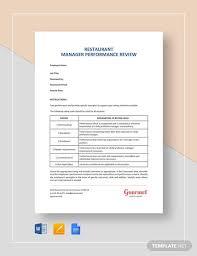 Restaurant Employee Performance Evaluation Form 11 Sample Performance Review Templates Pdf Doc Google