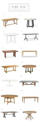 west elm slab round 3 serena lily downing table 4 williams sonoma lacoupole 5 room board mesa table 6 williams sonoma garden teak table 7