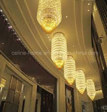 large modern engineering hotel project high quality crystal chandelier lamp lighting