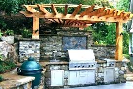 green egg outdoor kitchen custom with big and stainless appliances dimensions grill