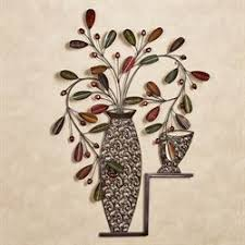 candelaria vase metal wall art decor on flowers in vase metal wall art with natural elements wall art touch of class