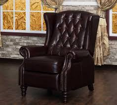 lazzaro tufted wing back recliner