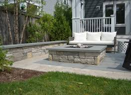 square paver patio with fire pit. Square Flagstone Patio Paver With Fire Pit Outdoor E