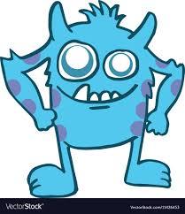 monster images for kids.  Monster Blue Monster Kids Tshirt Design Vector Image For Monster Images Kids VectorStock