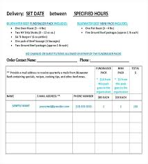 Fundraising Order Form Templates Pick Up Order Form Template Change Smart Snapshot Free