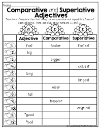 Comparative and Superlative Adjectives! TONS of great printables ...