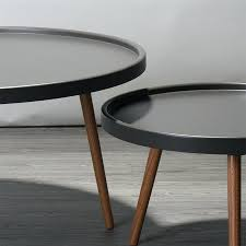 decoration coffee table small round solid wood side modern minimalist living room tables