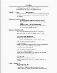 General Resume Template Free Mini Mfagency Resume Objective General