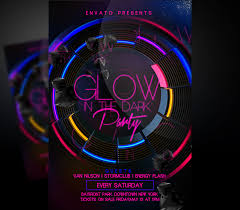 glow flyer glow in the dark flyer i for your awesome parties