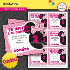Aplicaciones Para Hacer Invitaciones Gratis Invitaciones Gratis De Minnie Para Imprimir