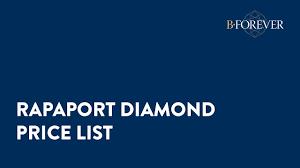 Rapaport Diamond Price Chart 2018 7 Rapaport Diamond Price List Bforever Net