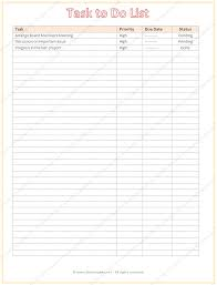 Task TO Do List Template - List Templates