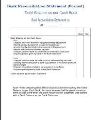 bank reconciliation form bank reconciliation statement format