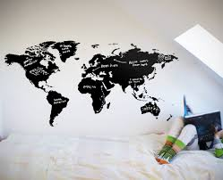 world map chalkboard on decal wall art nz with world map chalkboard your decal shop nz designer wall art decals