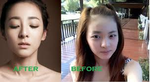 south korean actresses sandara park before and after makeup