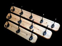 5 Hook Coat Rack 1100 Hook Oak Plinth Coat Rack [OPCR 01100] £31100100 Chunky Oak Designs 13