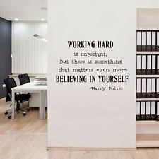 wall art office. Believe In Yourself Wall Art Sticker Office Harry Potter Quotes Decals Decor G