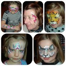 diffe pictures of face painting a tiger erfly cat flowers at spellbound