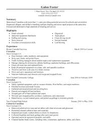 Commercial Cleaner Resume Sample Cleaning Skills For Image