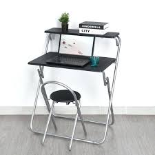 foldaway computer desk space saving fold away computer desk laptop table chair set home office small fold up computer desk