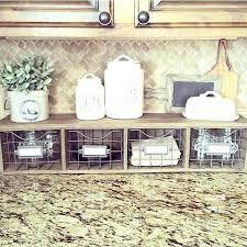 countertop shelves kitchen counter