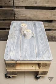 Reclaimed Wood Pallet Coffee Table  Table Designs Plans Pallet Coffee Table On Wheels