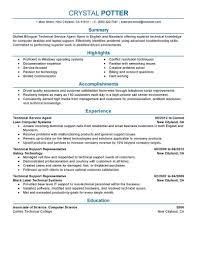Resume Format For Technical Jobs Best Bilingual Technical Service Agent Resume Example LiveCareer 76