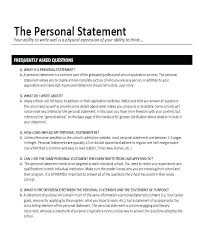 Personal Qualifications Statement Personal Statement In Resume Viragoemotion Com